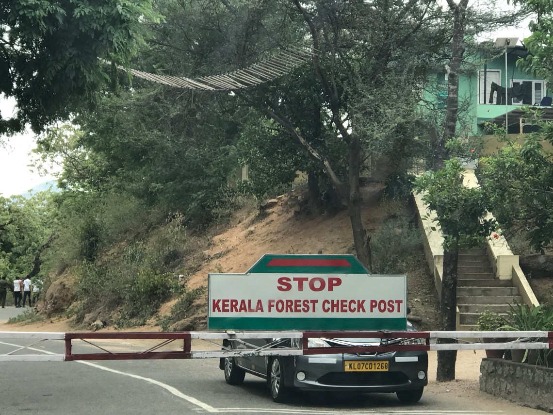 Kerela Forest Checkpoint.