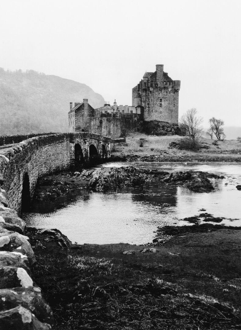 Eilean Donan the eerie and spooky castle of Scotland.