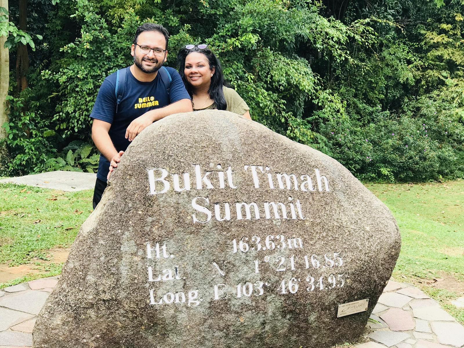 Us at the Summit of Bukit Timah