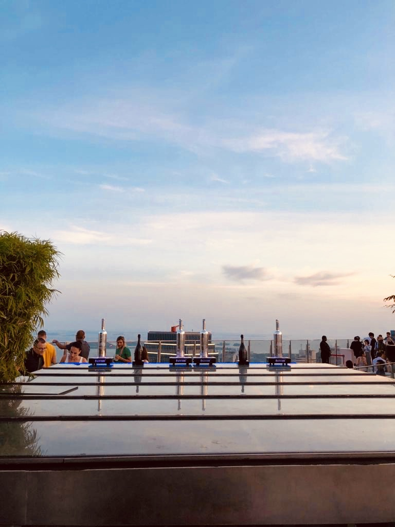 The best roof top bar in Singapore.