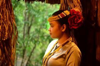 The beautiful lady of the Mari Mari village
