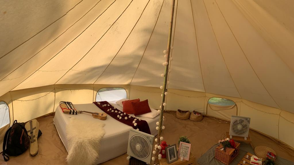The inside of the Tent(Go Glamping Singapore)