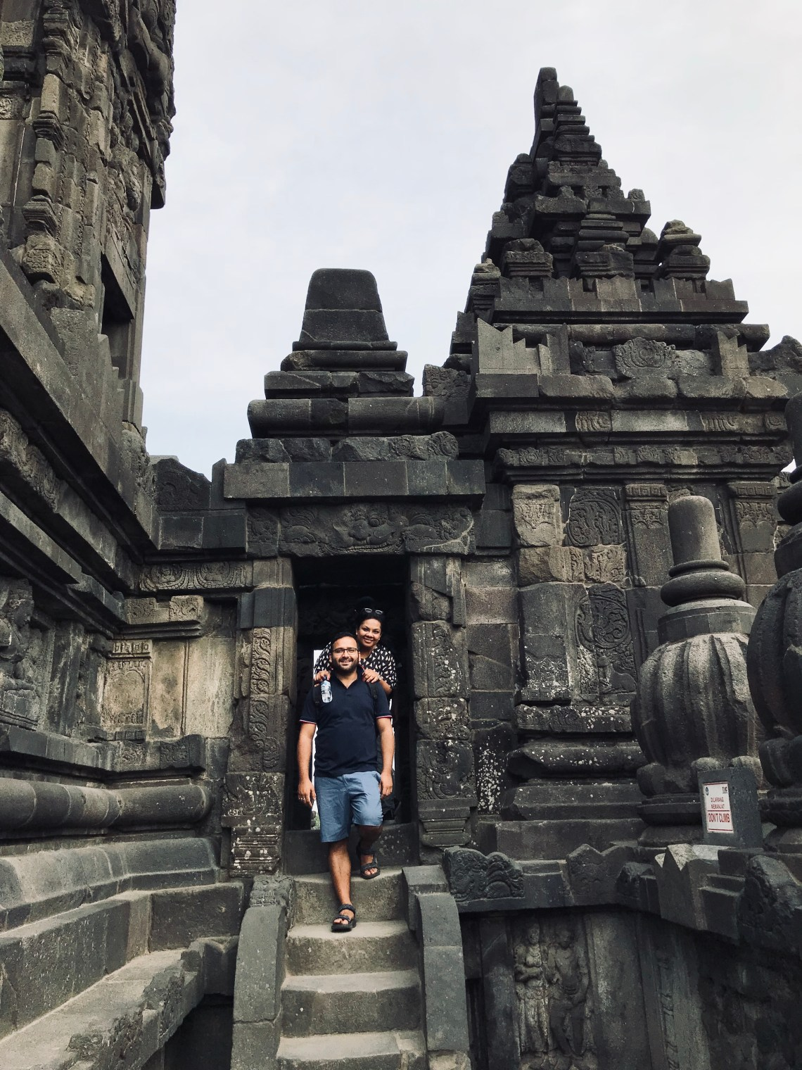 Different stories and different poses at Prambanan temple.