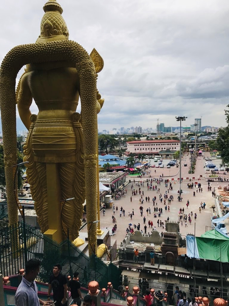 The view form the top of Batu caves.