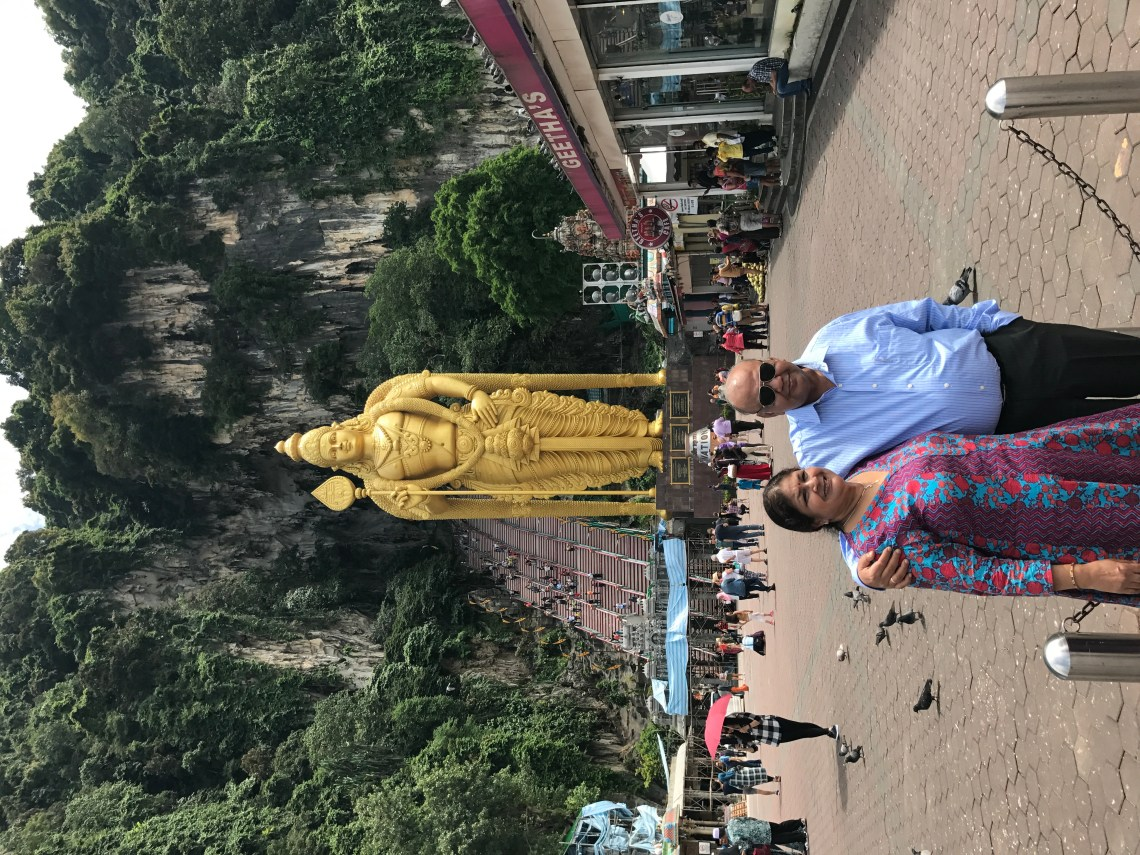 The Grand Idol in front of Batu Caves.