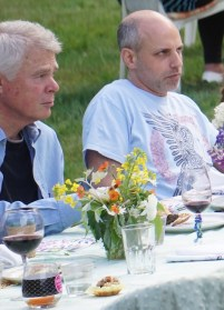 Joe Whisenand, chef extraordinaire, and David Mayer, actor extraordinaire