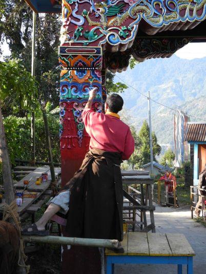 Preparing for the Dalai Lama's visit