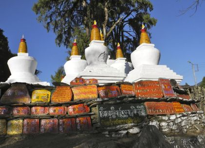Stupas and a mani wall