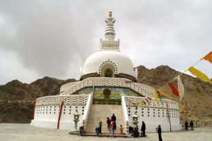 Shakti stupa on the hill above our guest house