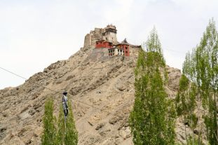 Leh Palace, the former king's royal palace overlooking Leh