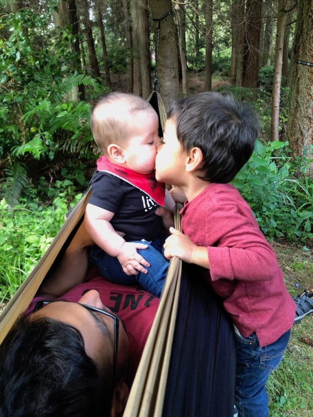 My two great grandsons. Theo really loves his baby brother, Hector