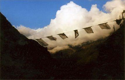 Flag over the Himalaya