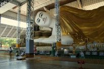 Head of reclining Buddha, Bago