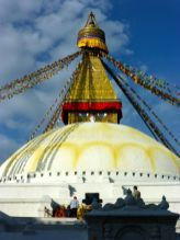 the Stupa in Boudhanath