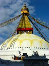 the Stupa in Boudhanath