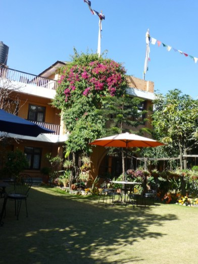 Shechen Guest House, our home in Kathmandu