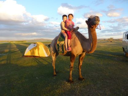Camel rides by local nomad children