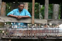 Local artisans. A great place to buy arrows and knives.