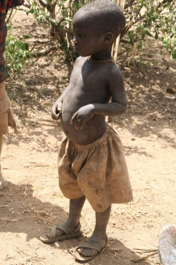 Very few children survive the lifestyle of the Hadzabe bush people in north-central Tanzania