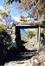 Typical entrance to a mountain village