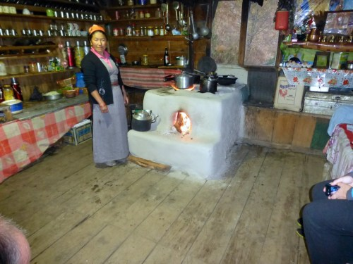 A most unusual stove and was the food good!