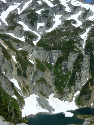 One of many small glacial lakes