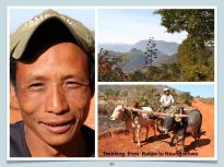 Taung Yo, our cook. Farmer met along a bumpy country road