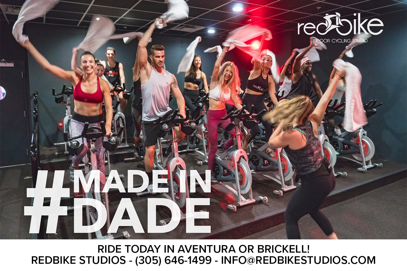 Redbike Indoor Cycling Studios : More than just exercise, it's a party on a bike!