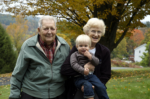 Ollie and his great-grandparents