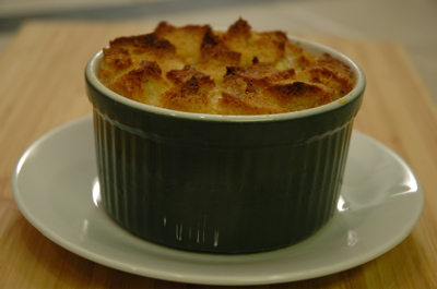 Individual bread pudding
