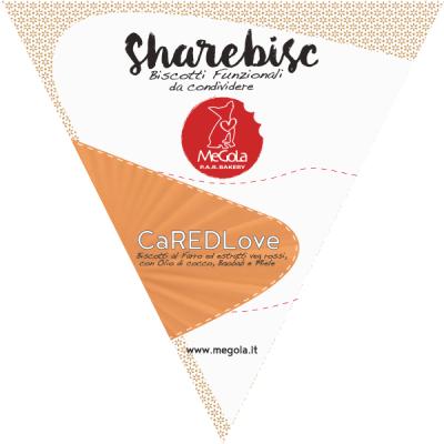 Megola ShareBisc Biscotti per Cani Ingredienti Naturali P.A.R.BAKERY Condividere Cane Uomo Ingredienti Vegano Vegani Bio CAredLove Farro Mirtilli Carote Rapa