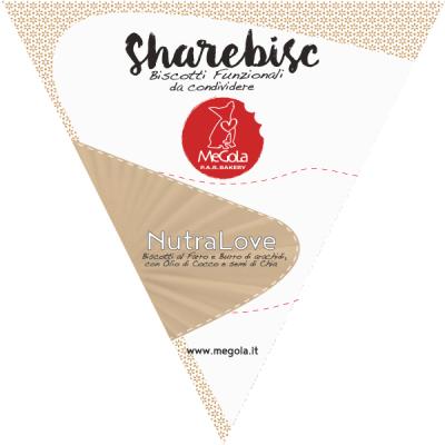 Megola ShareBisc Biscotti per Cani Ingredienti Naturali P.A.R.BAKERY Condividere Cane Uomo Ingredienti Vegano Vegani Bio NutraLove Classico Bestseller