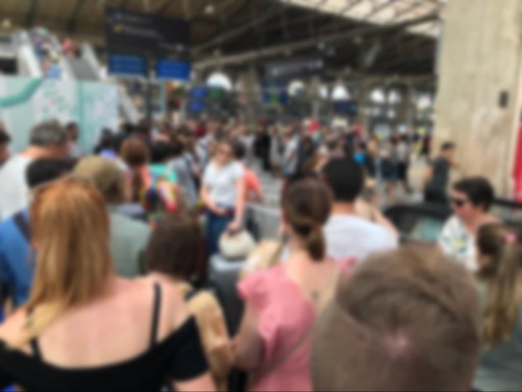 ユーロスター パリ北駅の様子