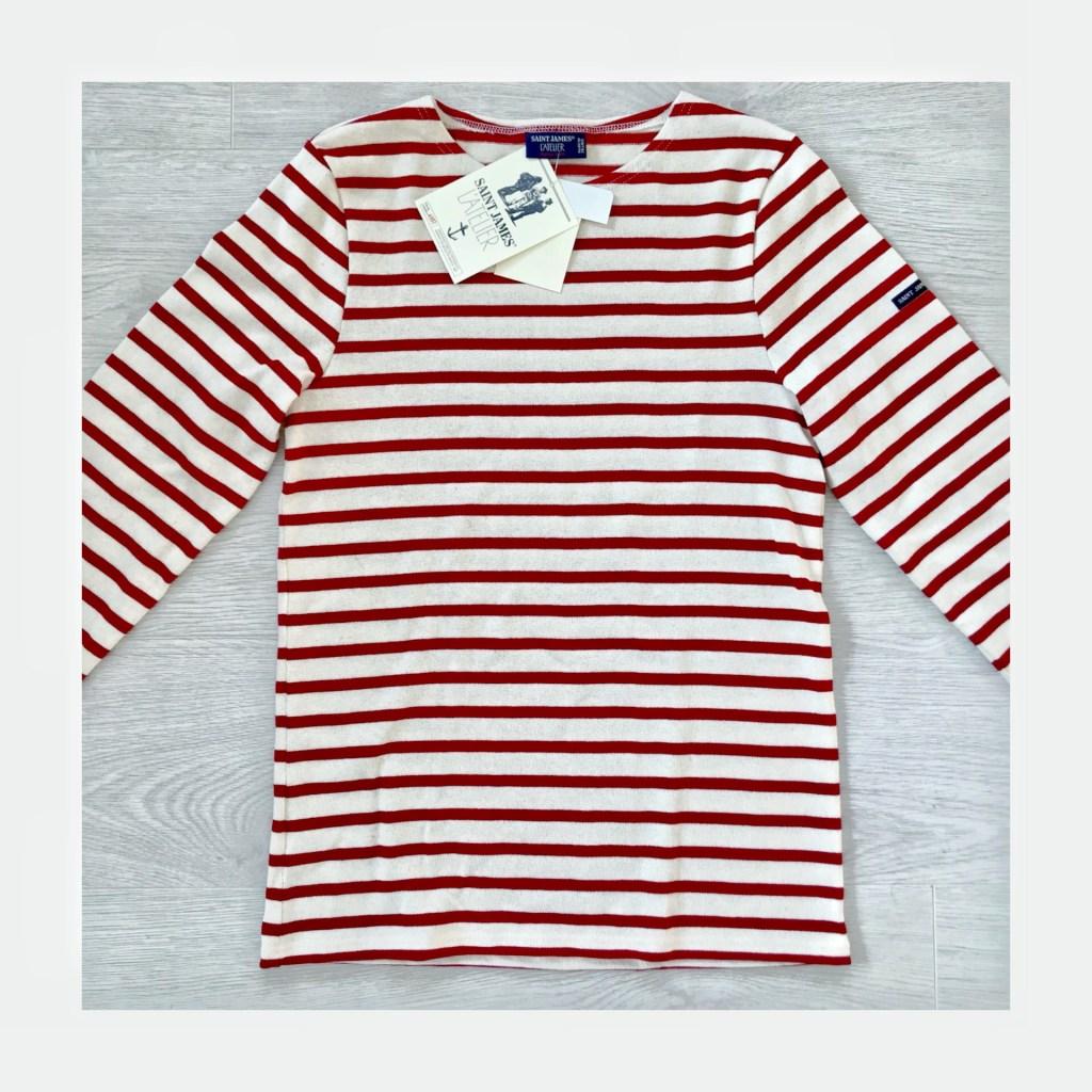 セントジェームズの着まわししやすいボーダーシャツ