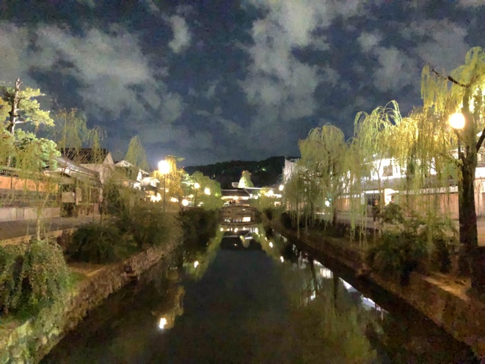 倉敷美観地区の夜景