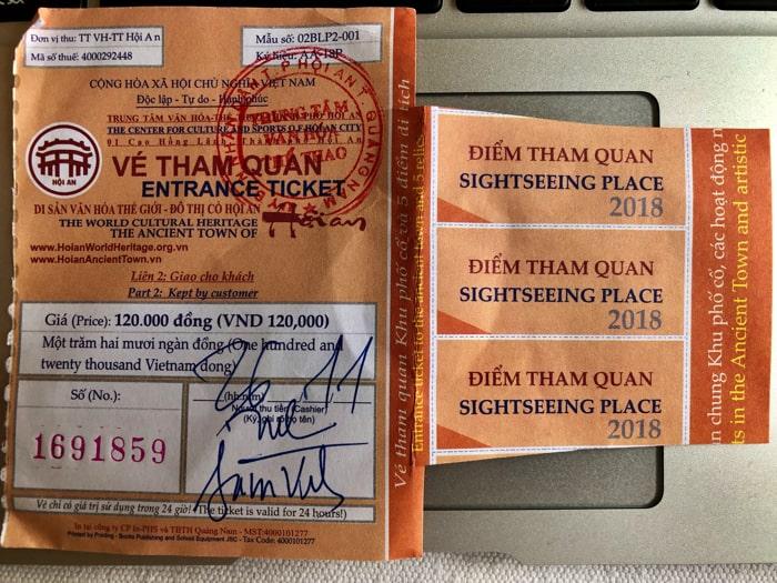 ホイアン観光では必ずチケットを購入しよう