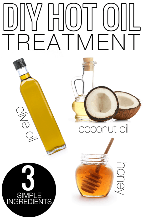 DIY Hot Oil Treatment - Only 3 simple ingredients. All natural! Very easy to do.