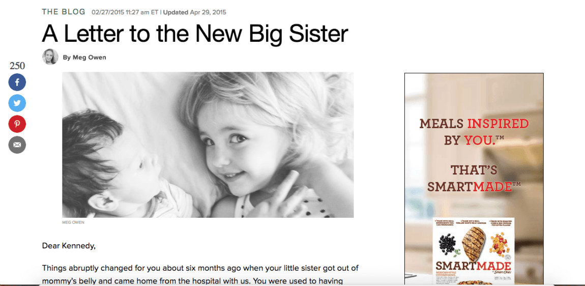 A Letter to the New Big Sister - Huffington Post