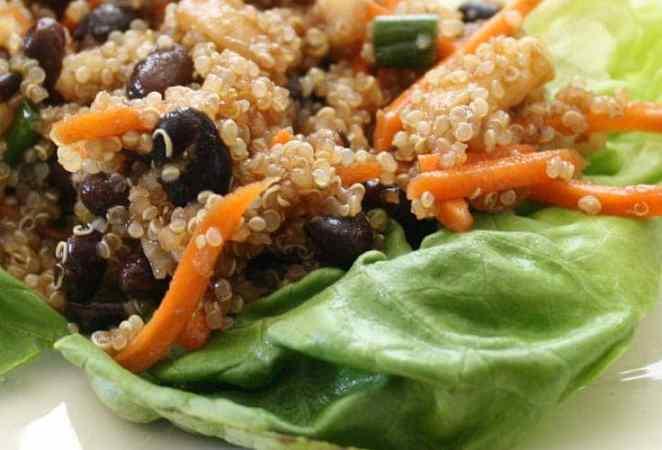 Clean Eating Veggie Asian Lettuce Wraps