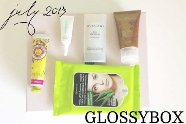 July 2013 Glossybox