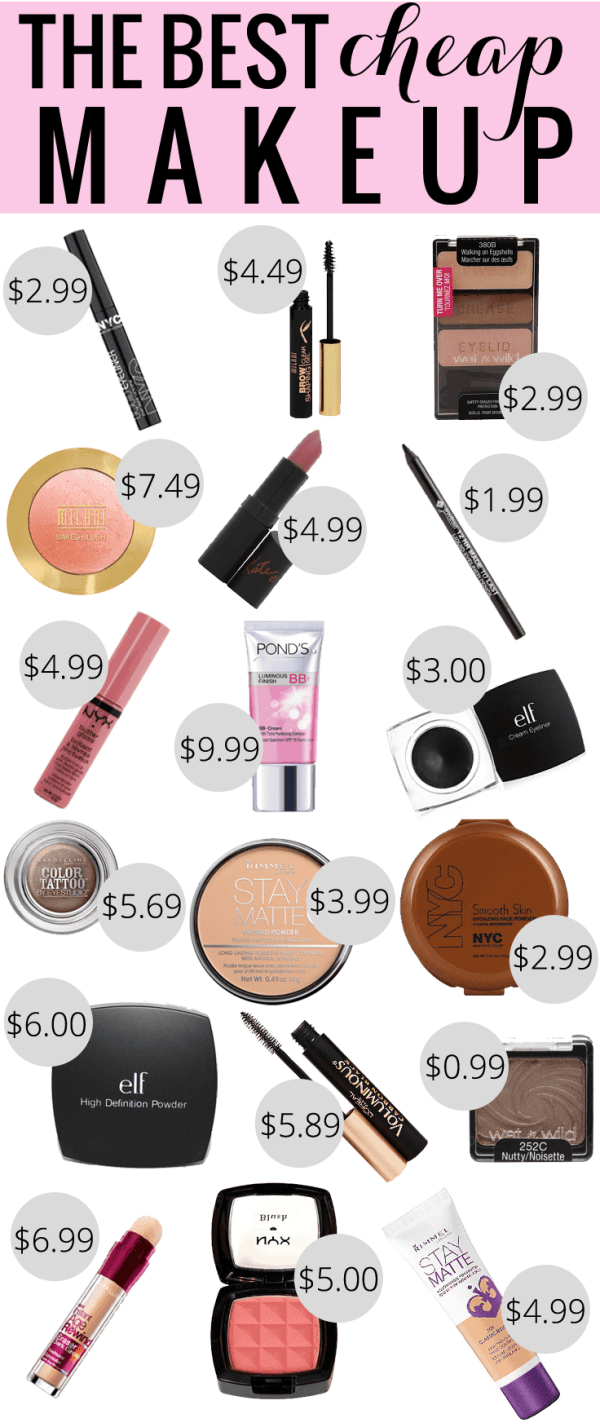 The Best Cheap Makeup by beauty blogger Meg O. on the Go