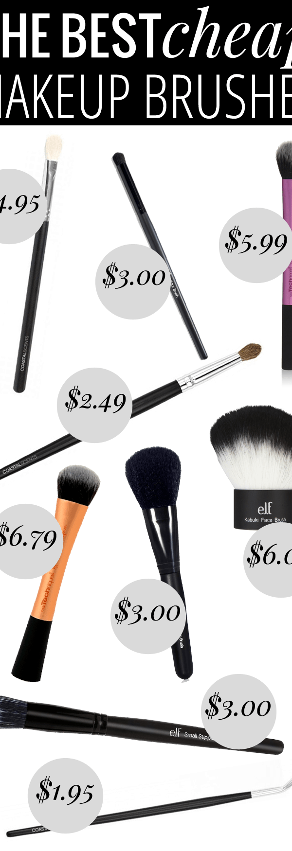 The Best Cheap Makeup Brushes by beauty blogger Meg O. on the Go