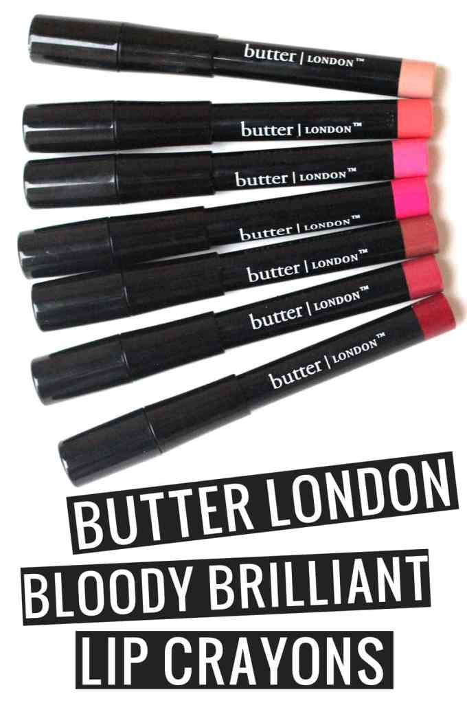 Butter London Bloody Brilliant Lip Crayons