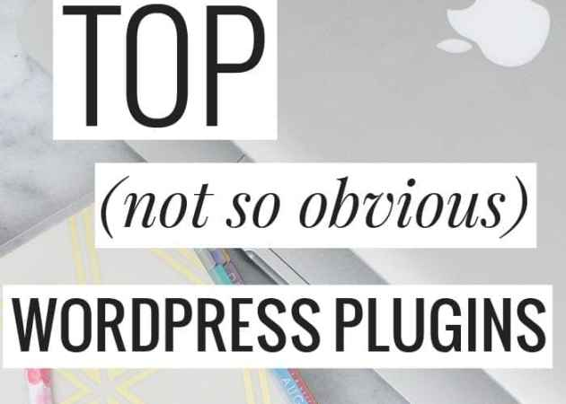 Top (not so obvious) WordPress Plugins