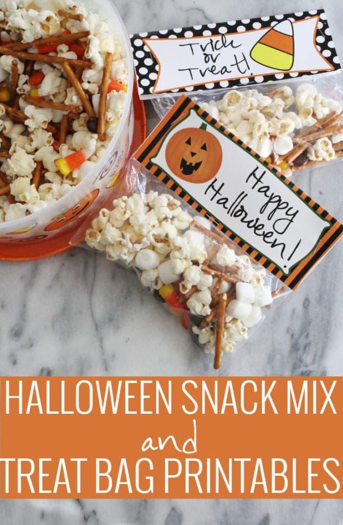 Halloween Snack Mix and Treat Bag Printables