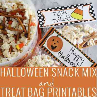 Halloween Snack Mix and Treat Bag Printables