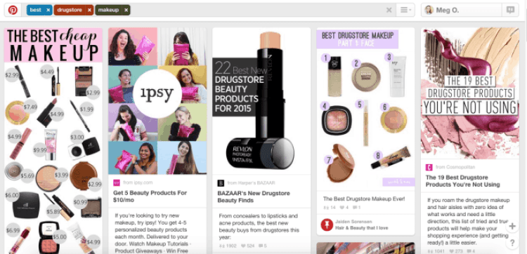 Best Drugstore Makeup on Pinterest - Pinterest SEO Example