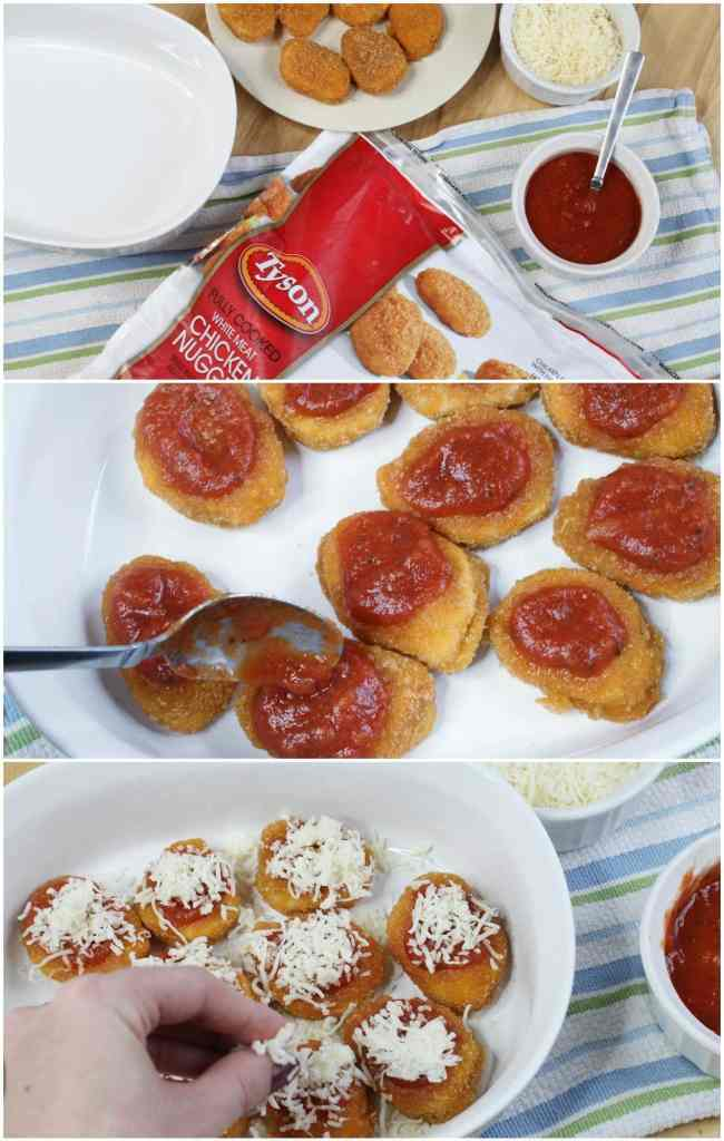 Chicken Nuggets Hack - genius idea to make bite sized chicken parm!