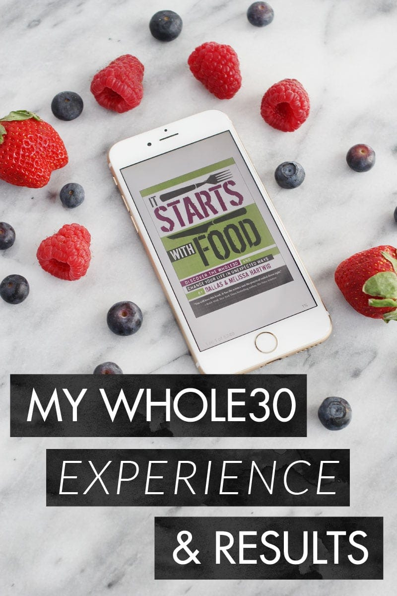 My Whole30 Experience and Results - complete with before and after photos, favorite recipes, and how I want to continue eating.
