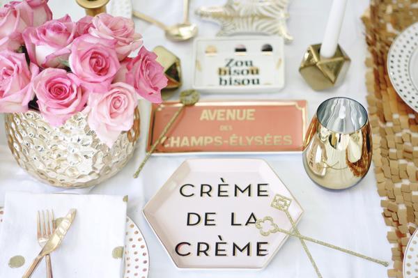 Creme de la Creme dish | Champs-Elysees dish | Zou bisou bisou dish
